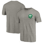 North Texas Mean Green Fanatics Branded College Vault Left Chest Distressed Tri-Blend T-Shirt - Gray