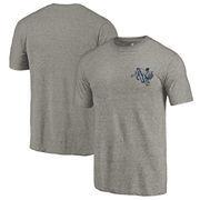 Villanova Wildcats Fanatics Branded College Vault Left Chest Distressed Tri-Blend T-Shirt - Gray