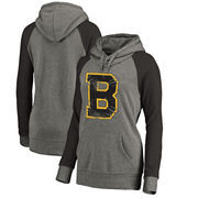 Boston Bruins Fanatics Branded Women's Hometown Collection Tri-Blend Raglan Hoodie – Heathered Gray