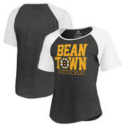 Boston Bruins Fanatics Branded Women's Hometown Collection Tri-Blend Raglan T-Shirt – Black
