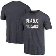 New Orleans Pelicans Fanatics Branded Geaux Pelicans Hometown Collection Tri-Blend T-Shirt - Navy