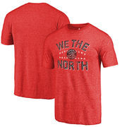 Toronto Raptors Fanatics Branded Sharp Tooth Hometown Collection Tri-Blend T-Shirt - Red