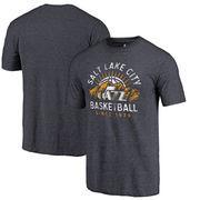 Utah Jazz Fanatics Branded SLC Basketball Hometown Collection Tri-Blend T-Shirt - Navy