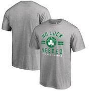 Boston Celtics Fanatics Branded Big & Tall No Luck Hometown Collection T-Shirt - Heathered Gray