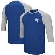 Air Force Falcons Colosseum Raglan 3/4-Sleeve T-Shirt – Royal/Charcoal