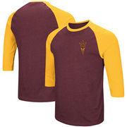 Arizona State Sun Devils Colosseum Raglan 3/4-Sleeve T-Shirt – Maroon/Gold