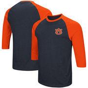 Auburn Tigers Colosseum Raglan 3/4-Sleeve T-Shirt – Navy/Orange
