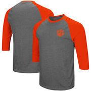 Clemson Tigers Colosseum Raglan 3/4-Sleeve T-Shirt – Charcoal/Orange