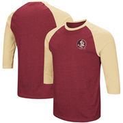 Florida State Seminoles Colosseum Raglan 3/4-Sleeve T-Shirt – Garnet/Gold