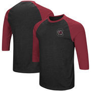 South Carolina Gamecocks Colosseum Raglan 3/4-Sleeve T-Shirt – Black/Garnet