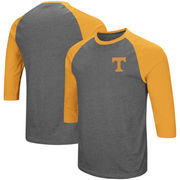 Tennessee Volunteers Colosseum Raglan 3/4-Sleeve T-Shirt – Charcoal/Tennessee Orange