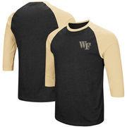 Wake Forest Demon Deacons Colosseum Raglan 3/4-Sleeve T-Shirt – Black/Gold