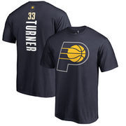 Myles Turner Indiana Pacers Fanatics Branded Backer Name and Number T-Shirt - Navy