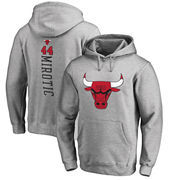 Nikola Mirotic Chicago Bulls Fanatics Branded Backer Name and Number Pullover Hoodie - Heathered Gray