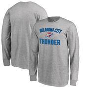 Oklahoma City Thunder Fanatics Branded Youth Victory Arch Long Sleeve T-Shirt - Heathered Gray
