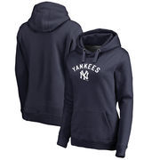 New York Yankees Fanatics Branded Women's Plus Size Cooperstown Collection Wahconah Pullover Hoodie - Navy