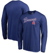 Atlanta Braves Fanatics Branded Big & Tall Cooperstown Collection Wahconah Long Sleeve T-Shirt - Royal