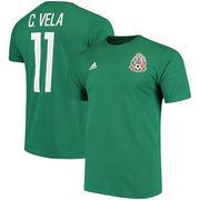 Carlos Vela Mexico National Team adidas Go To Name & Number T-Shirt - Green