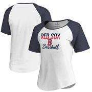 Boston Red Sox Fanatics Branded Women's Free Line Tri-Blend Raglan T-Shirt - White