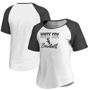 Chicago White Sox Fanatics Branded Women's Free Line Tri-Blend Raglan T-Shirt - White