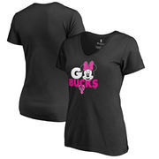 Milwaukee Bucks Fanatics Branded Women's Disney Rally Cry Minnie V-Neck T-Shirt - Black