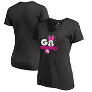 Minnesota Timberwolves Fanatics Branded Women's Disney Rally Cry Minnie V-Neck T-Shirt - Black