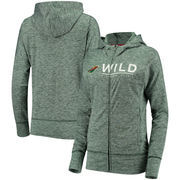 Minnesota Wild G-III 4Her by Carl Banks Women's Receiver Full-Zip Hoodie - Heathered Green