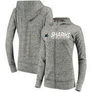 San Jose Sharks G-III 4Her by Carl Banks Women's Receiver Full-Zip Hoodie - Heathered Gray