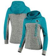 San Jose Sharks G-III 4Her by Carl Banks Women's Sideline Pullover Hoodie - Gray