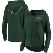 Minnesota Wild Touch by Alyssa Milano Women's Tackle Full-Zip Hoodie - Green