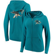 San Jose Sharks Touch by Alyssa Milano Women's Tackle Full-Zip Hoodie - Teal