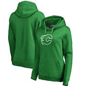 Calgary Flames Fanatics Branded Women's St. Patrick's Day White Logo Pullover Hoodie - Kelly Green
