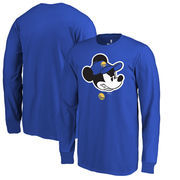 Golden State Warriors Fanatics Branded Youth Disney Game Face Long Sleeve T-Shirt - Royal