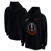 Georgia Bulldogs Nike College Football Playoff 2018 Rose Bowl Bound Illustration Pullover Hoodie – Black