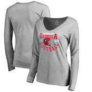 Georgia Bulldogs Fanatics Branded Women's College Football Playoff 2018 Rose Bowl Bound Down Long Sleeve T-Shirt – Heathered Gra