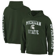 Michigan State Spartans Fanatics Branded Distressed Arch Over Logo Pullover Hoodie – Green