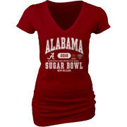 Alabama Crimson Tide Blue 84 Women's College Football Playoff 2018 Sugar Bowl Bound Affliction V-Neck T-Shirt – Crimson