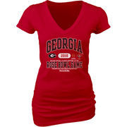 Georgia Bulldogs Blue 84 Women's College Football Playoff 2018 Rose Bowl Bound Affliction V-Neck T-Shirt – Red