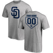 San Diego Padres Fanatics Branded Personalized RBI T-Shirt - Heathered Gray