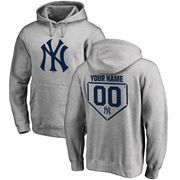 New York Yankees Fanatics Branded Personalized RBI Pullover Hoodie - Heathered Gray