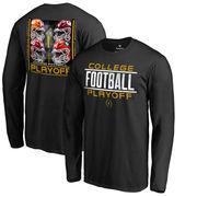 Fanatics Branded 2017 College Football Playoff Bracket Cornerback Big & Tall Long Sleeve T-Shirt – Black