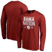 Alabama Crimson Tide Fanatics Branded College Football Playoff 2018 Sugar Bowl Bound Delay Long Sleeve T-Shirt – Crimson