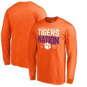 Clemson Tigers Fanatics Branded College Football Playoff 2018 Sugar Bowl Bound Delay Long Sleeve T-Shirt – Orange