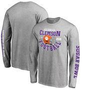 Clemson Tigers Fanatics Branded College Football Playoff 2018 Sugar Bowl Bound Down Long Sleeve T-Shirt – Heathered Gray
