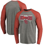 Oklahoma Sooners Fanatics Branded College Football Playoff 2018 Rose Bowl Bound Drive Long Sleeve Raglan Tri-Blend T-Shirt – Hea