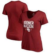 Oklahoma Sooners Fanatics Branded Women's College Football Playoff 2018 Rose Bowl Bound Delay Slim Fit V-Neck T-Shirt – Crimson