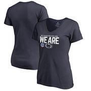 Penn State Nittany Lions Fanatics Branded Women's 2017 Fiesta Bowl Bound Delay Slim Fit V-Neck T-Shirt – Navy