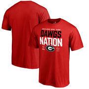 Georgia Bulldogs Fanatics Branded College Football Playoff 2018 Rose Bowl Bound Delay Big & Tall T-Shirt – Red