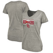 Oklahoma Sooners Fanatics Branded Women's College Football Playoff 2018 Rose Bowl Bound Drive Tri-Blend V-Neck T-Shirt – Heather