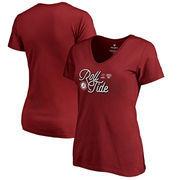Alabama Crimson Tide Fanatics Branded Women's College Football Playoff 2018 Sugar Bowl Bound End Zone Slim Fit V-Neck T-Shirt –
